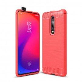 Coque Silicone Xiaomi MI 9T Brossé Rouge