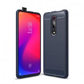 Coque Silicone Xiaomi MI 9T Brossé Bleue