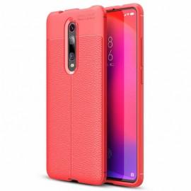 Coque Silicone Xiaomi MI 9T Cuir Rouge 3D
