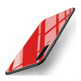 Coque Samsung Galaxy A70 Silicone Rouge et Verre Trempé