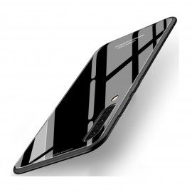 Coque Samsung Galaxy A70 Silicone Noire et Verre Trempé