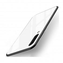 Coque Samsung Galaxy A70 Silicone Blanche et Verre Trempé