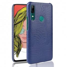 Coque Huawei P Smart Z Croco Cuir Bleue