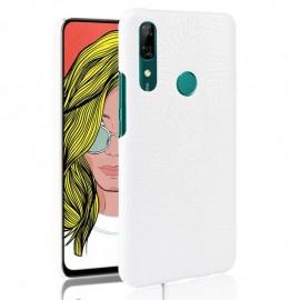Coque Huawei P Smart Z Croco Cuir Blanche