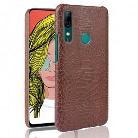 Coque Huawei P Smart Z Croco Cuir Marron