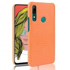 Coque Huawei P Smart Z Croco Cuir Orange