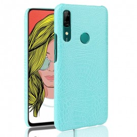 Coque Huawei P Smart Z Croco Cuir Turquoise