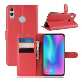 Etuis Portefeuille Huawei P Smart Z Simili Cuir Rouge