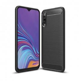 Coque Silicone Samsung Galaxy A70 Brossé Noir
