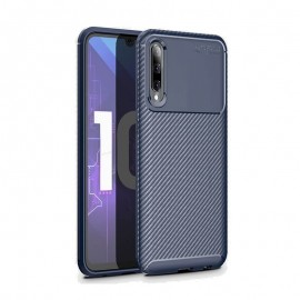 Coque Samsung Galaxy A70 Carbone TPU Bleue