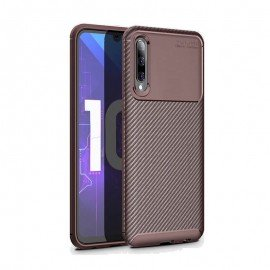 Coque Samsung Galaxy A70 Carbone TPU Marron