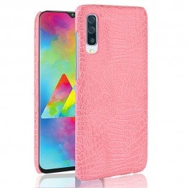 Coque Samsung Galaxy A70 Croco Cuir Rose