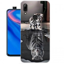 Coque Silicone Huawei P Smart Z Chat Mirroir