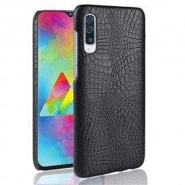 Coque Samsung Galaxy A70 Croco Cuir Noire