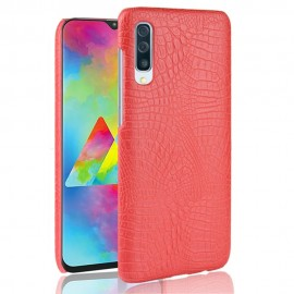 Coque Samsung Galaxy A70 Croco Cuir Rouge