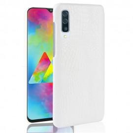 Coque Samsung Galaxy A70 Croco Cuir Blanche
