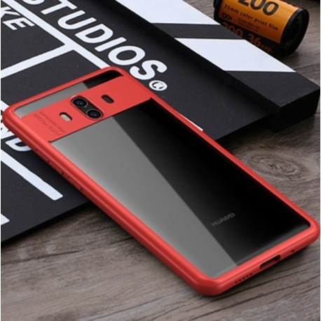 Coque Huawei Mate 10 Silicone hybride Rouge