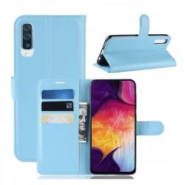 Etuis Portefeuille Samsung Galaxy A70 Simili Cuir Bleu