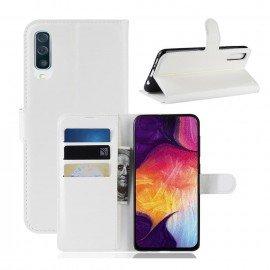 Etuis Portefeuille Samsung Galaxy A70 Simili Cuir Blanc