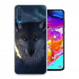 Coque Silicone Samsung Galaxy A70 Loup