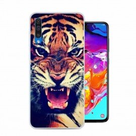 Coque Silicone Samsung Galaxy A70 Tigre