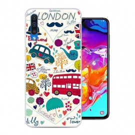 Coque Silicone Samsung Galaxy A70 London