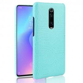 Coque Xiaomi Mi 9T Croco Cuir Turquoise