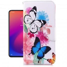 Etuis Portefeuille Xiaomi MI 9T Papillons