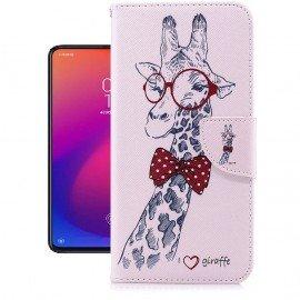 Etuis Portefeuille Xiaomi MI 9T Girafe