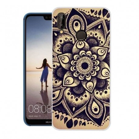 Coque Silicone Huawei P20 Lite Fleur