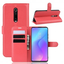 Etuis Portefeuille Xiaomi MI 9T Simili Cuir Rouge