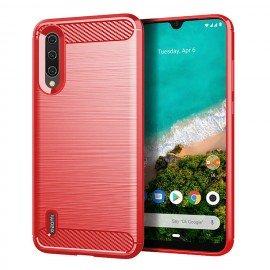 Coque Silicone Xiaomi MI A3 Brossé Rouge