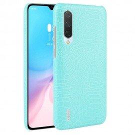 Coque Xiaomi Mi A3 Croco Cuir Turquoise