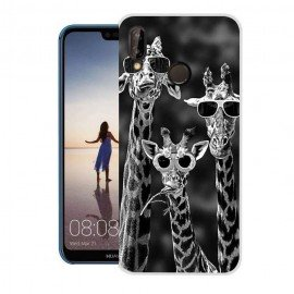 Coque Silicone Huawei P20 Lite Girafes