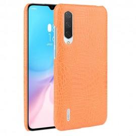 Coque Xiaomi Mi A3 Croco Cuir Orange