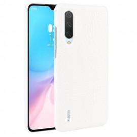 Coque Xiaomi Mi A3 Croco Cuir Blanche