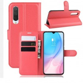 Etuis Portefeuille Xiaomi MI A3 Simili Cuir Rouge