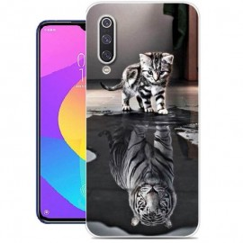 Coque Silicone Xiaomi MI A3  Chat Mirroir