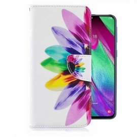 Etuis Portefeuille Samsung Galaxy A20e Plumes