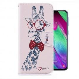 Etuis Portefeuille Samsung Galaxy A20e Girafe