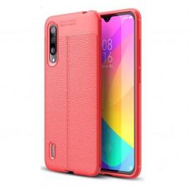 Coque Silicone Xiaomi MI 9 Lite Cuir 3D Rouge