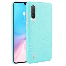 Coque Xiaomi MI 9 Lite Croco Cuir Turquoise