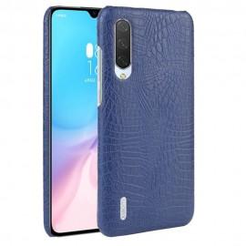 Coque Xiaomi MI 9 Lite Croco Cuir Bleue
