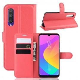 Etuis Portefeuille Xiaomi MI 9 Lite Simili Cuir Rouge