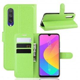 Etuis Portefeuille Xiaomi MI 9 Lite Simili Cuir Vert