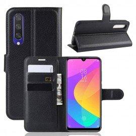 Etuis Portefeuille Xiaomi MI 9 Lite Simili Cuir Noir