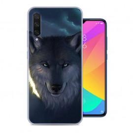 Coque Silicone Xiaomi MI 9 Lite Loup