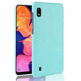 Coque Samsung Galaxy A10 Croco Cuir Turquoise