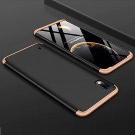 Coque 360 Samsung Galaxy A10 Noire et Or