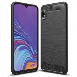 Coque Silicone Samsung Galaxy A10 Brossé Noire